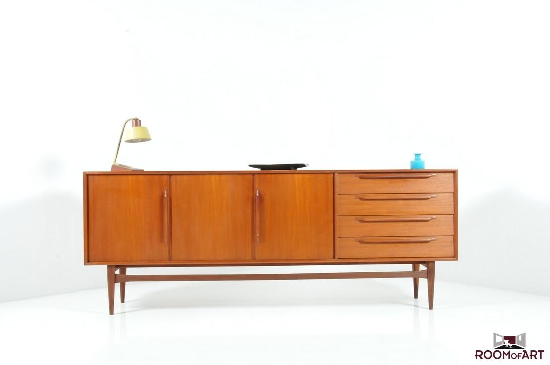 Mid Century Danish Sideboard Teak Room Art