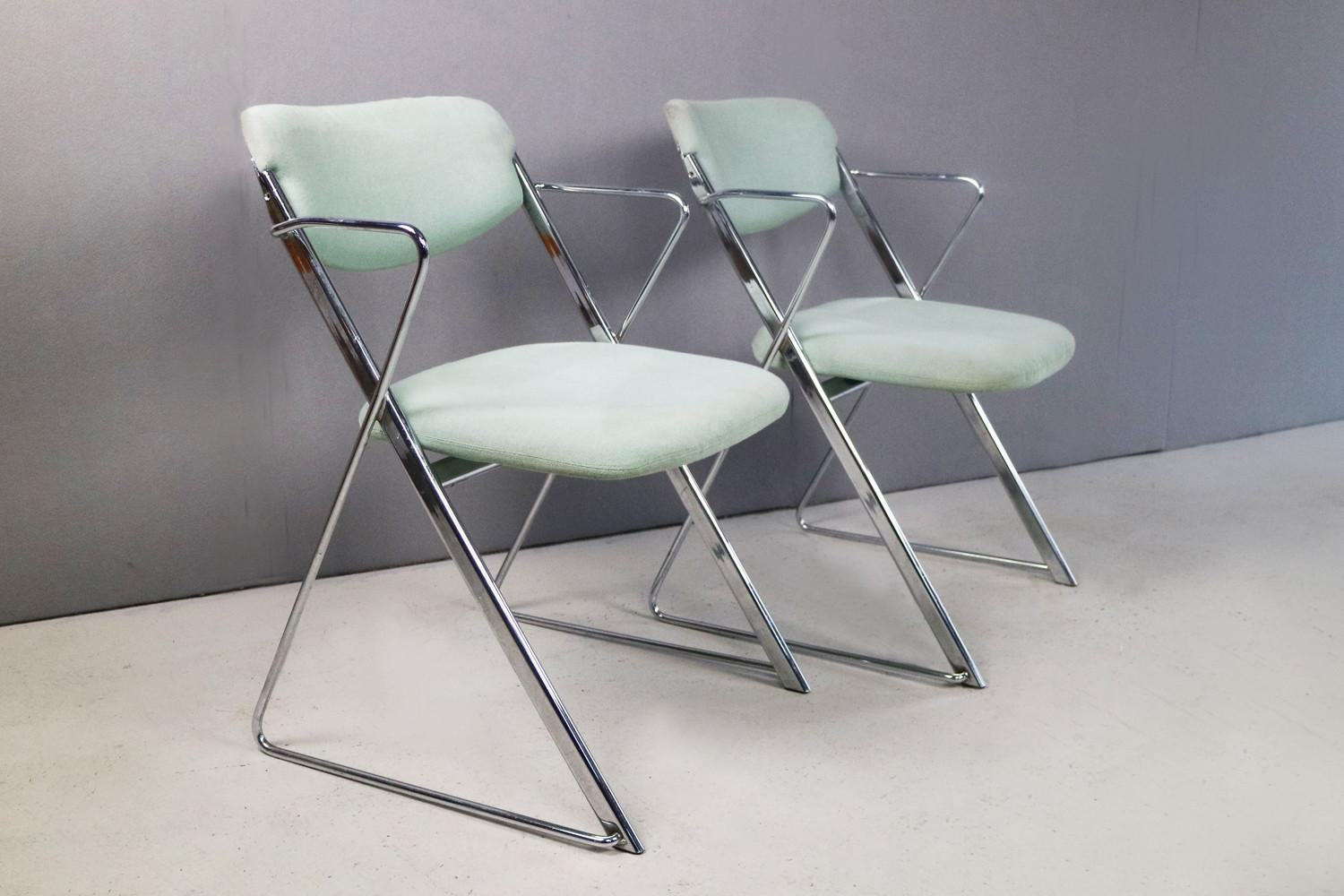 Mid Century Folding Chairs Ernest Race 1960s Set