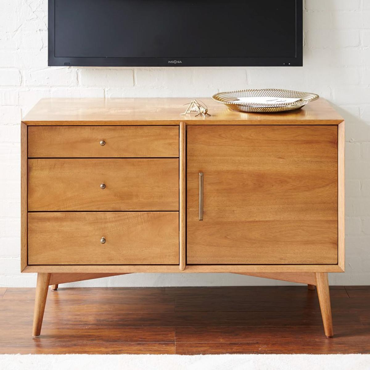 Mid Century Media Console 102 Acorn West Elm
