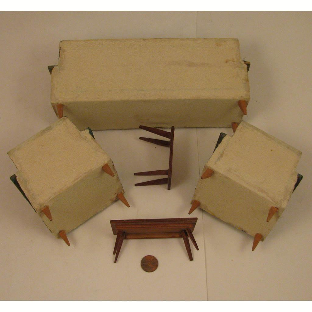 Mid Century Modern Doll House Living Room Furniture