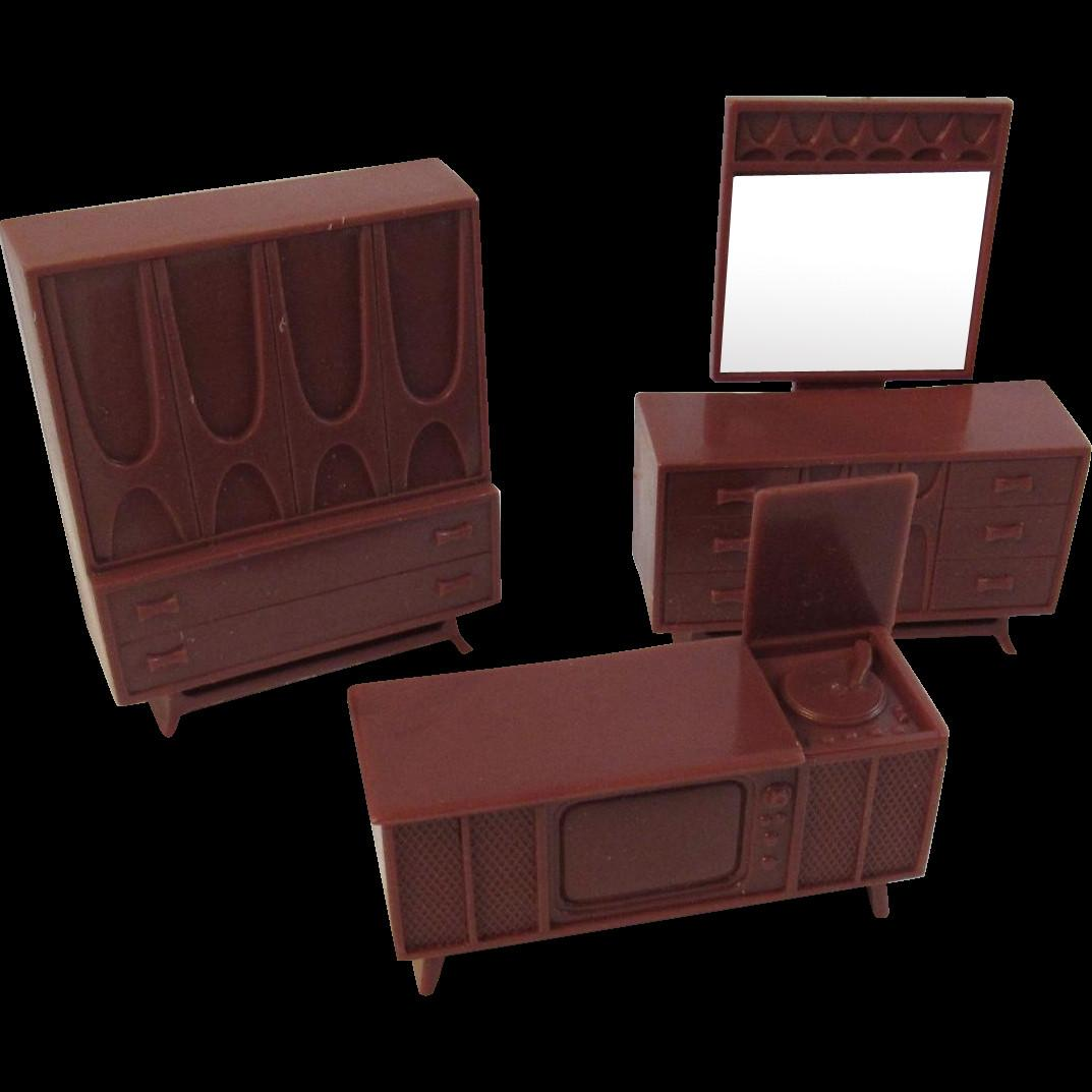 Mid Century Modern Dollhouse Furniture Pieces