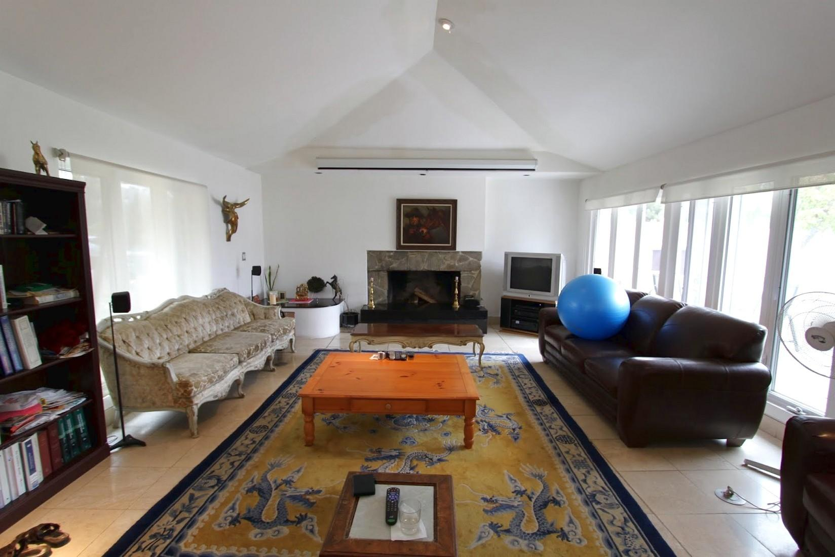 Mid Century Modern Eclectic Living Room Two Sofa