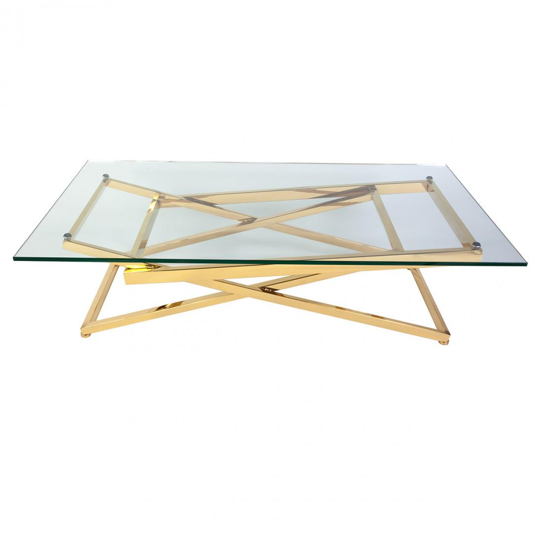 Mid Century Modern Gigli Coffee Table Gold
