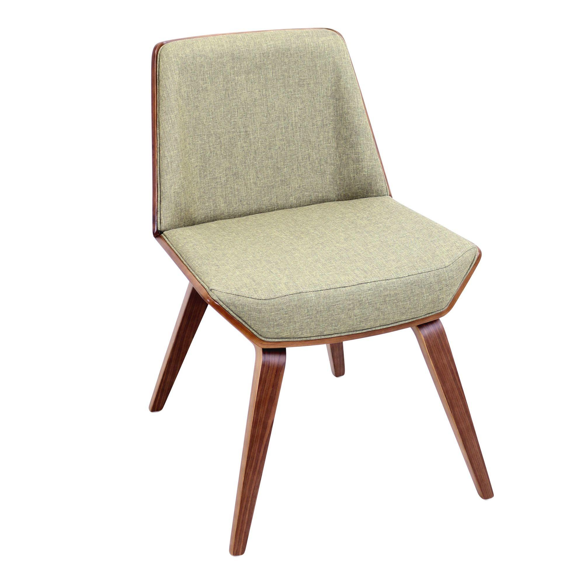 Mid Century Modern Low Back Armless Accent Chair
