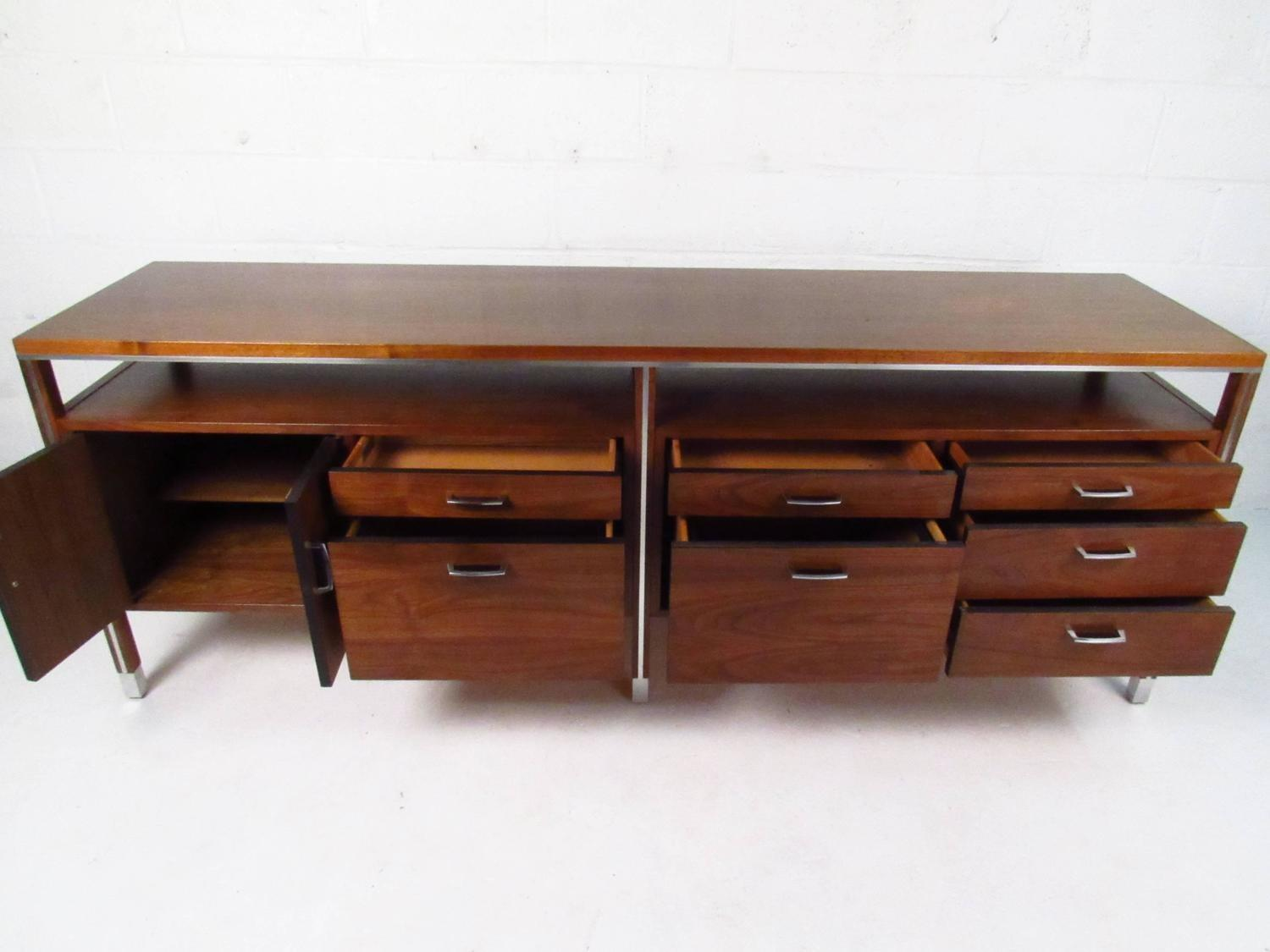 Mid Century Modern Office Credenza Directional 1stdibs