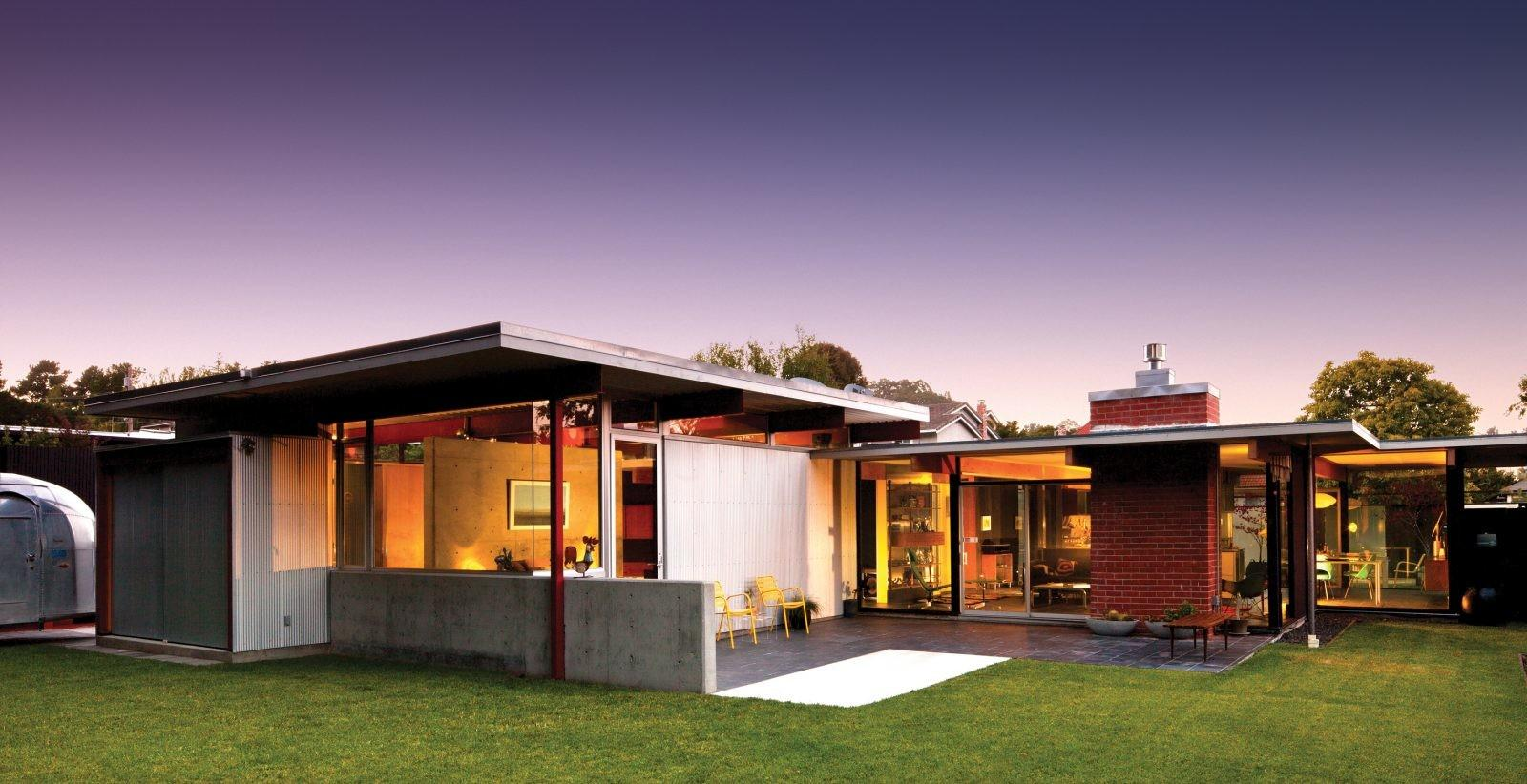 Mid Century Modern Ranch House Plans Garage