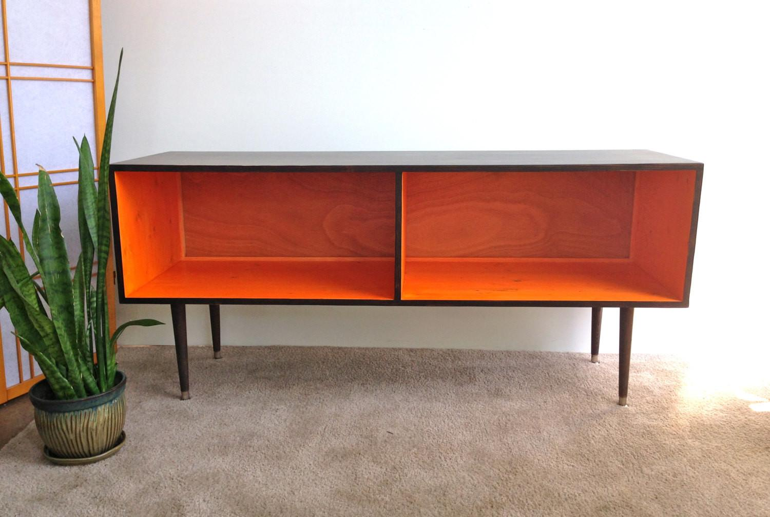 Mid Century Modern Record Player Cabinet Media Table Stand