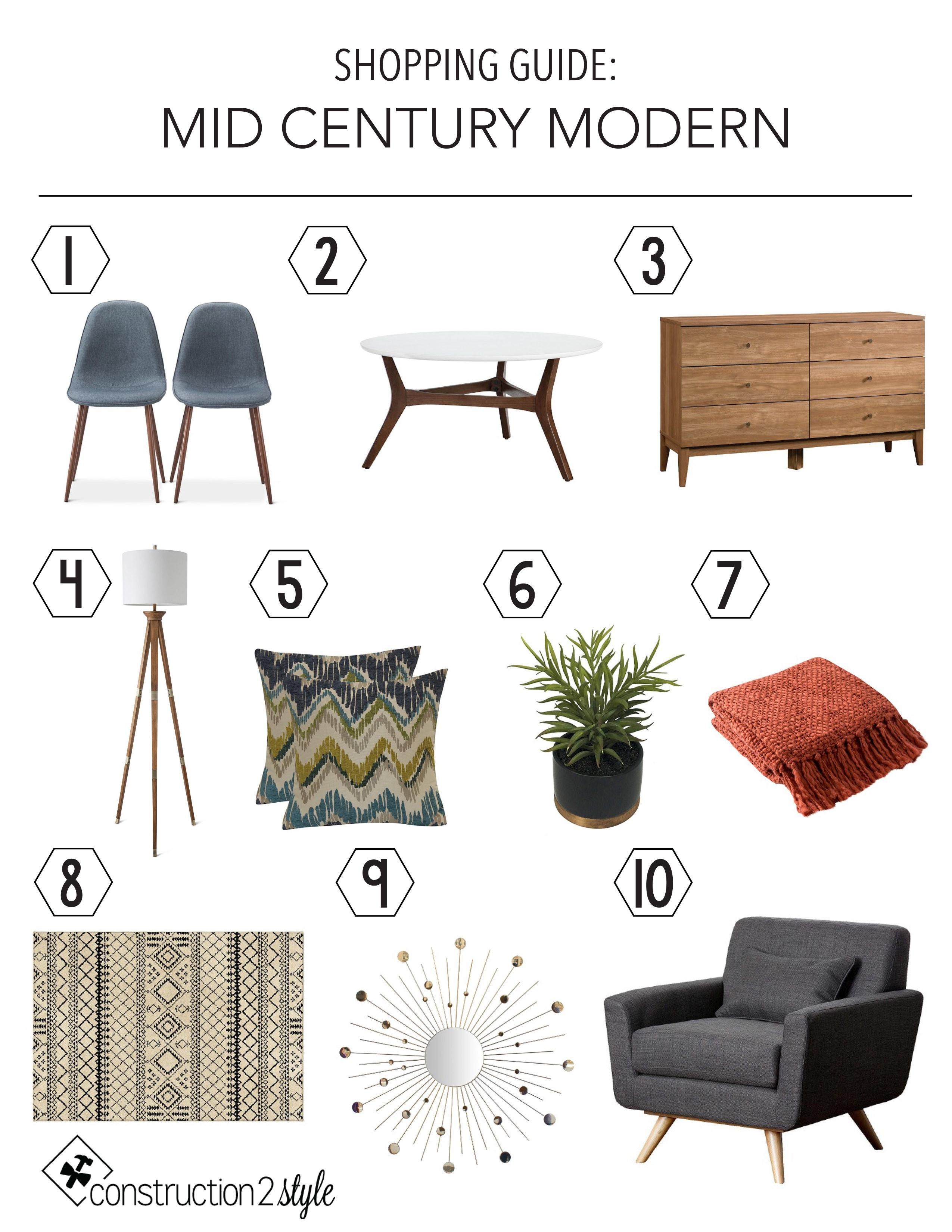 Mid Century Modern Shopping Guide Construction2style