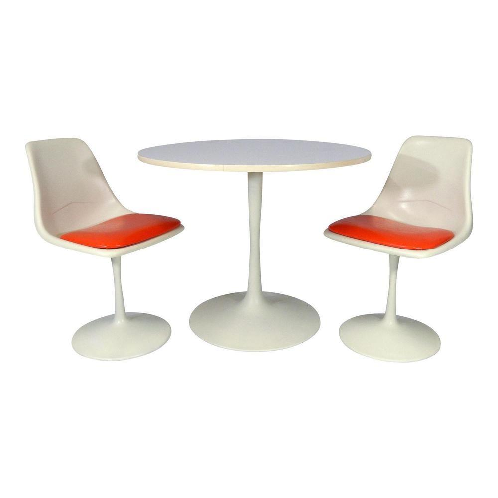 Mid Century Modern Tulip Dining Set Table Chairs