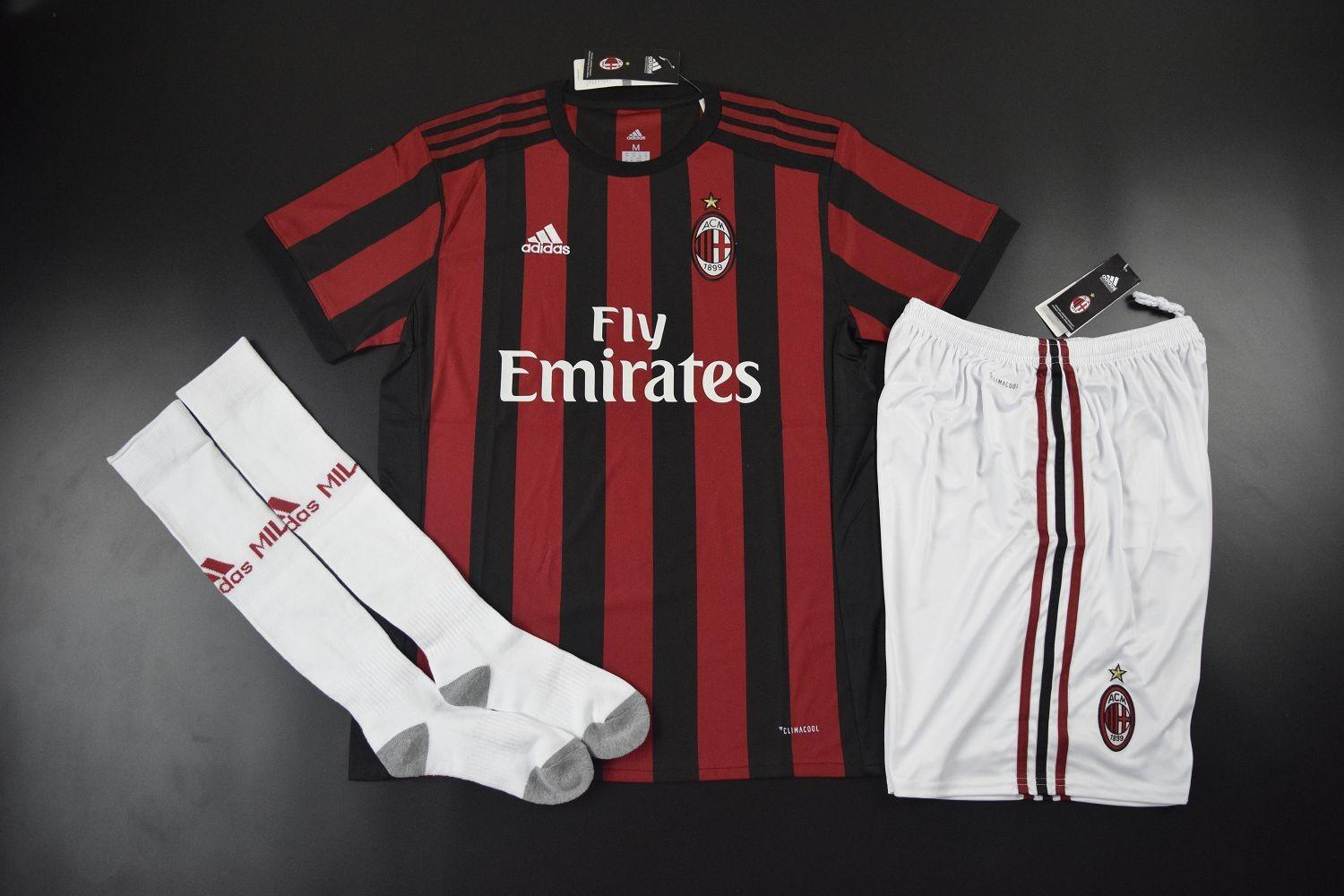Milan 2017 2018 Home Whole Kit Jersey Shorts Socks