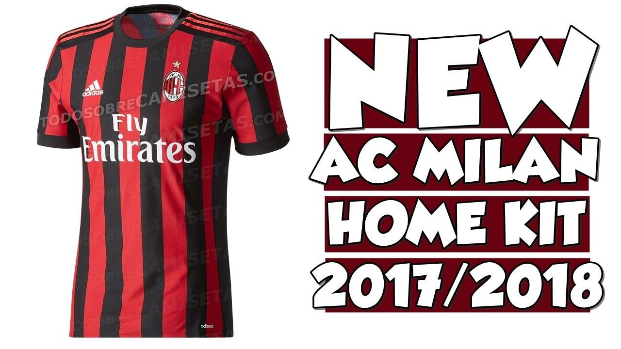 Milan Home Kit 2017 2018 Adidas