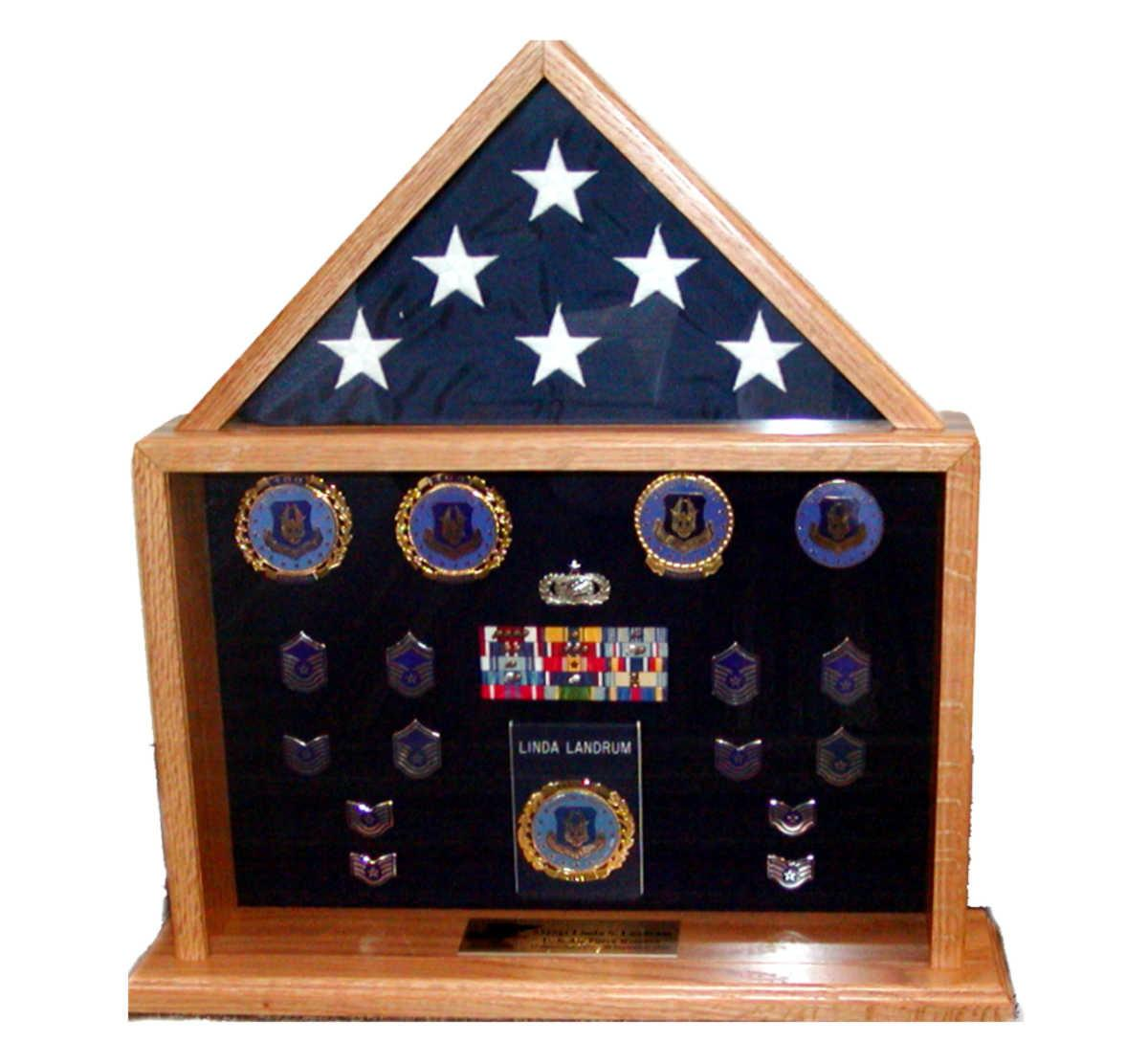 Military Shadow Boxes Custom Displays Retirement Gifts