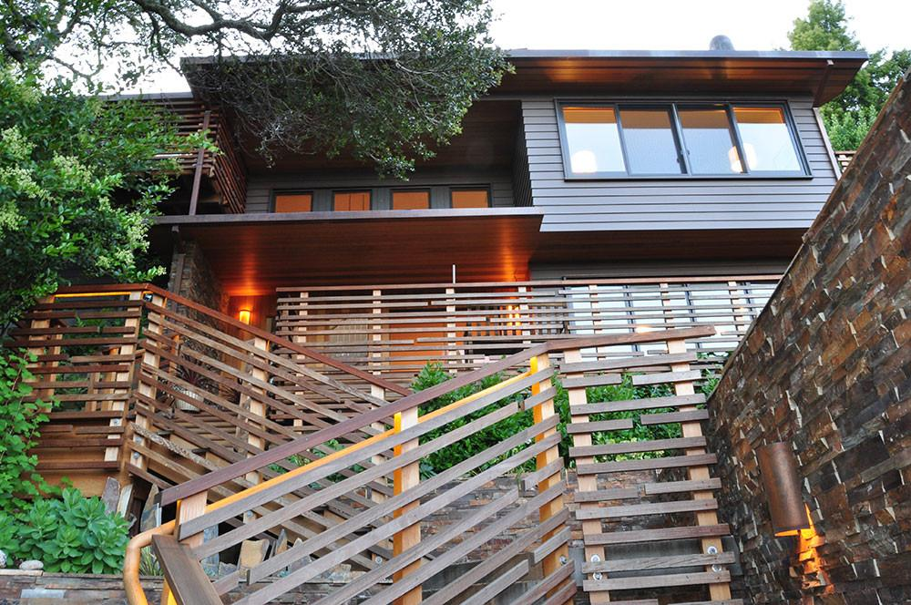 Mill Valley Residence Arc Wood Timbers