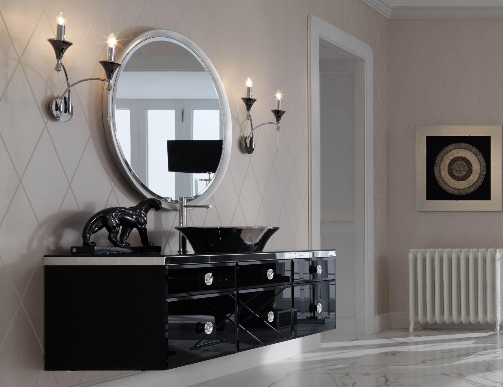 Milldue Majestic Black Lacquered Glass High End Italian
