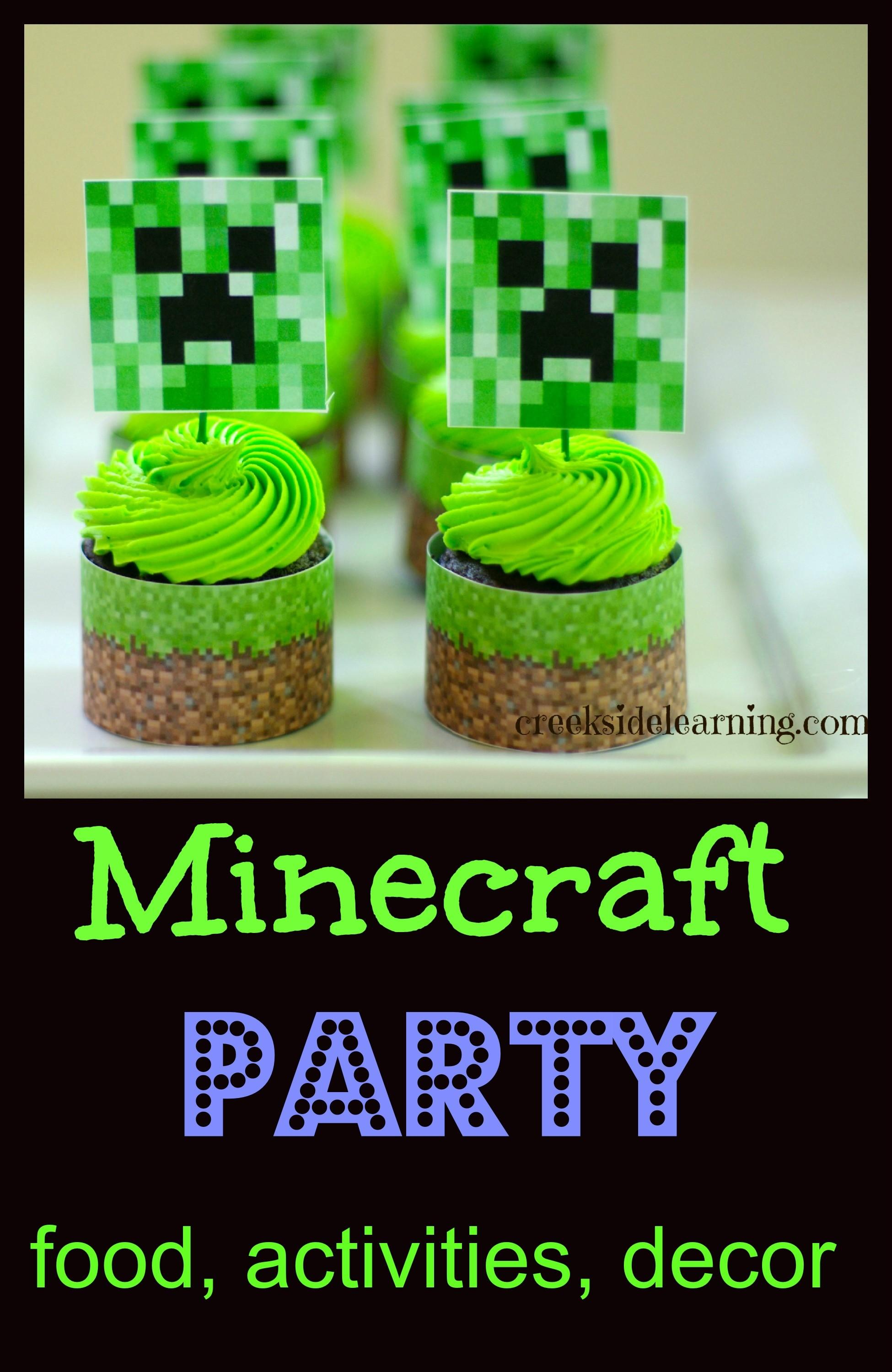 Minecraft Party Round Creekside Learning