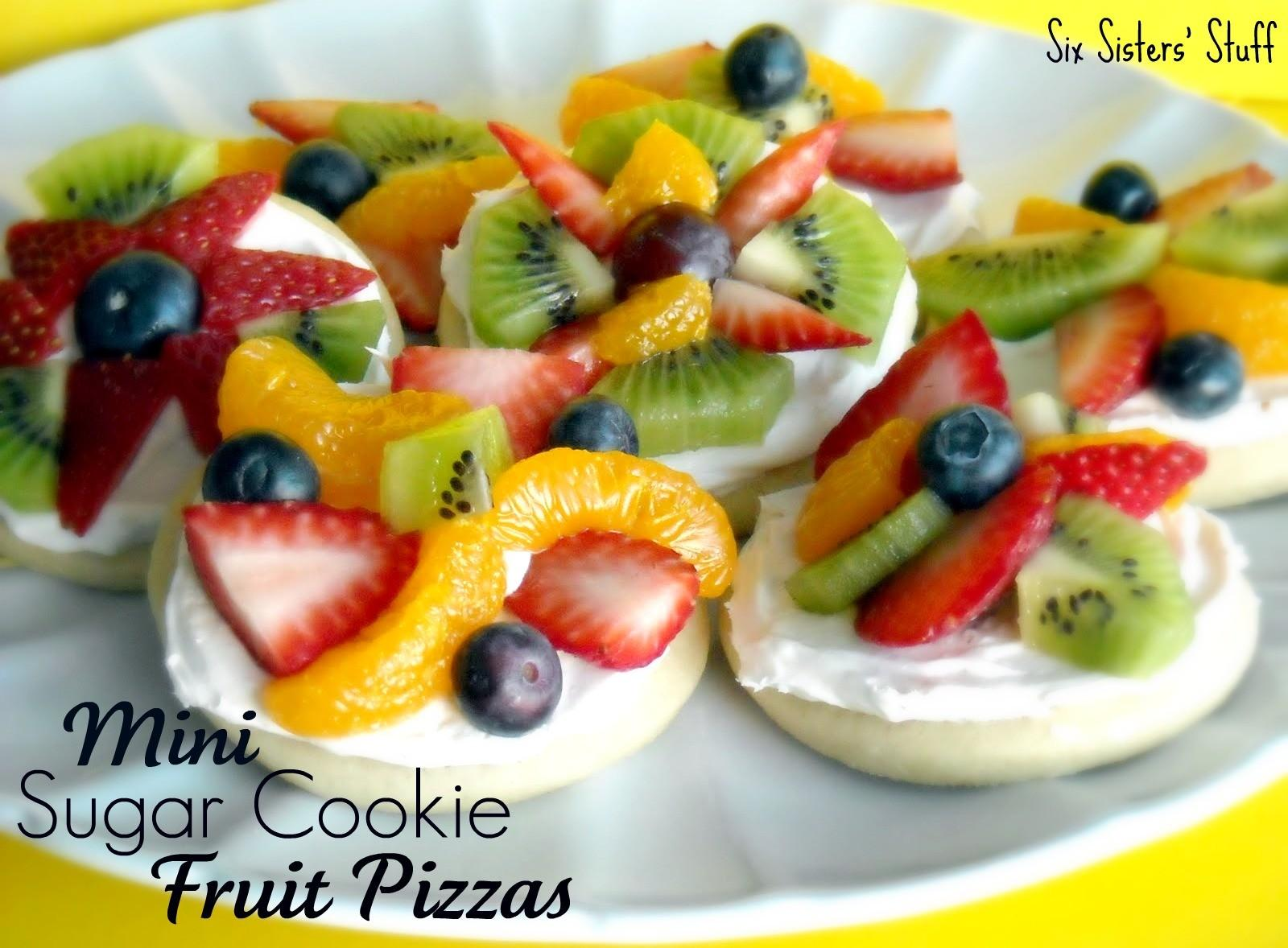 Mini Fruit Pizzas Recipe Dishmaps