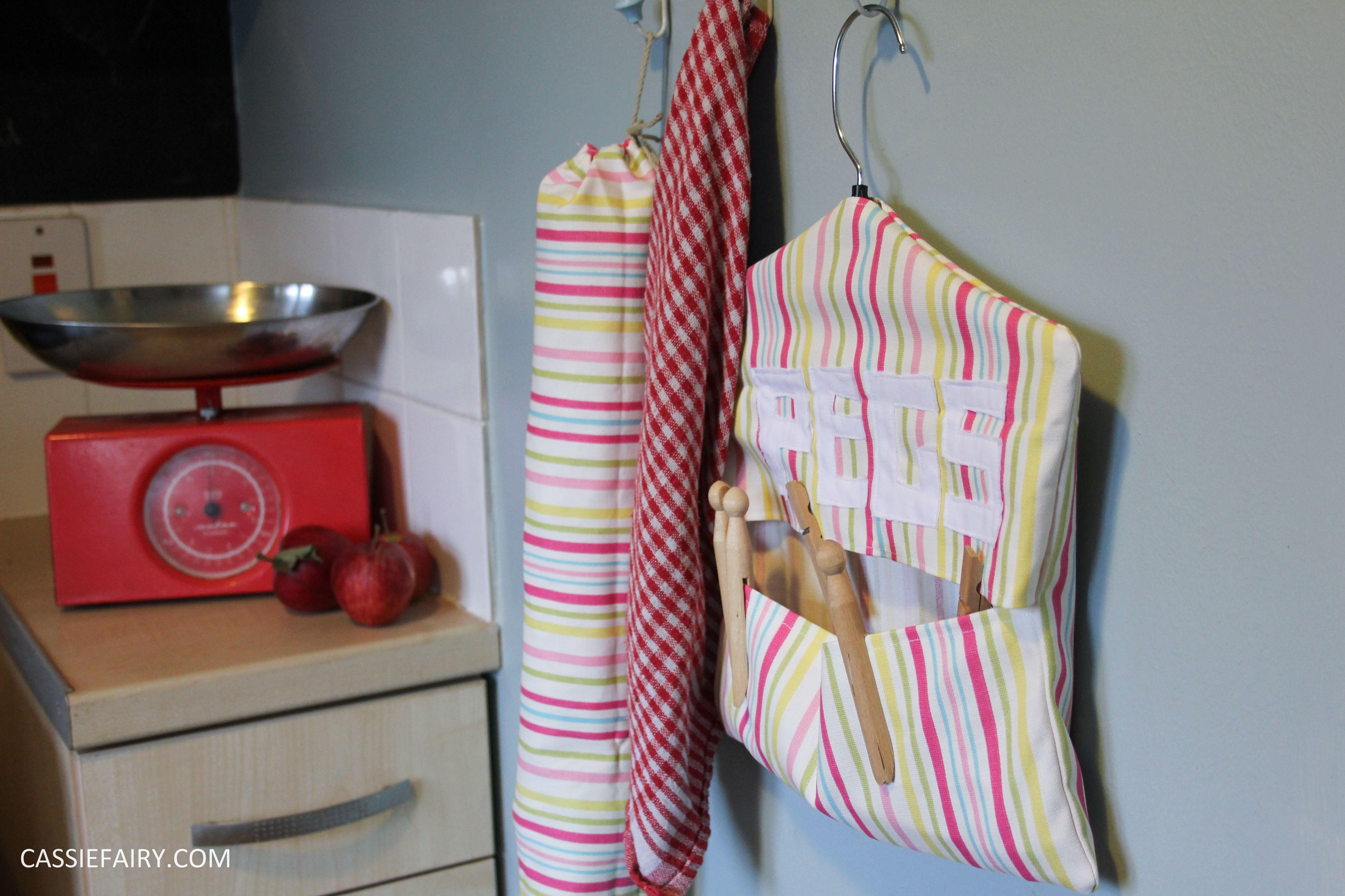 Mini Kitchen Makeover Diy Peg Bag Sewing Project