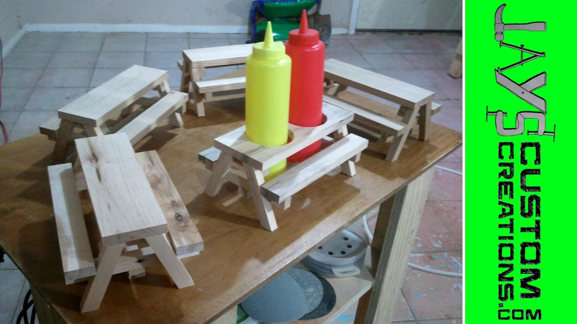 Mini Picnic Table Condiment Holders 091