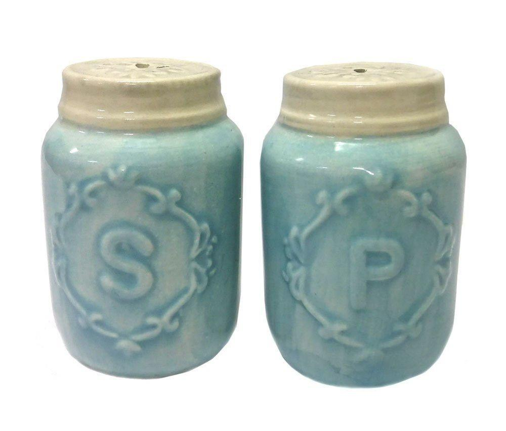 Miniature Canning Mason Jar Salt Pepper Shaker Set