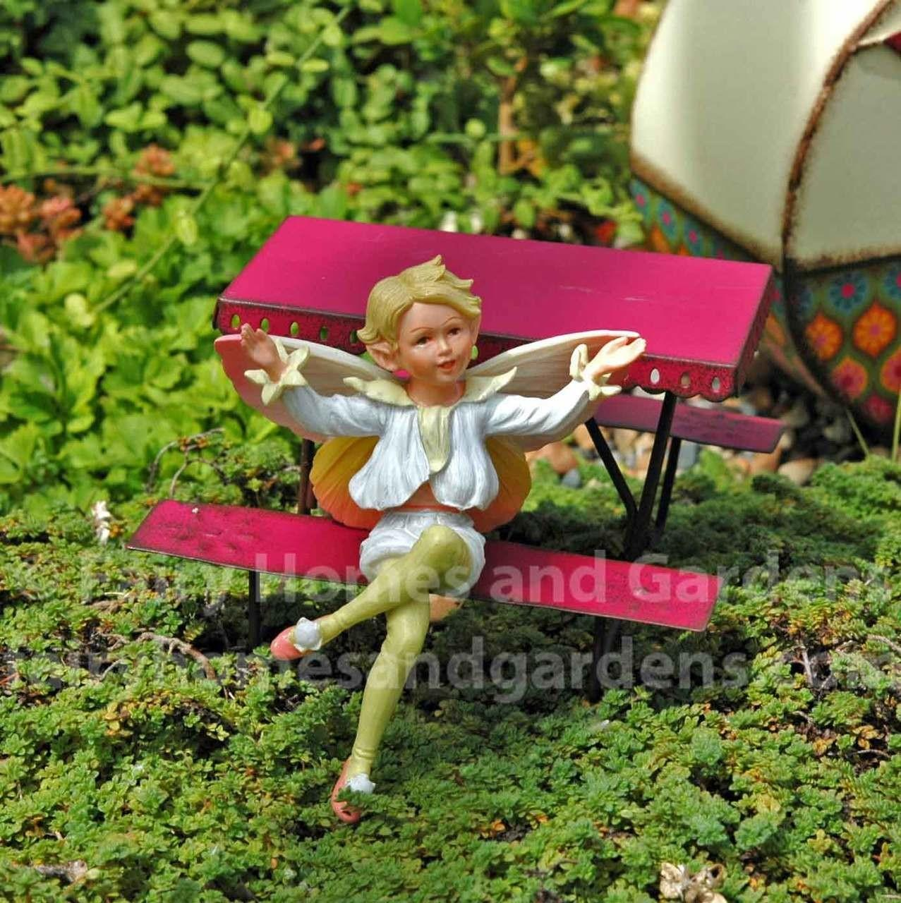 Miniature Fairy Picnic Table Garden Accessories