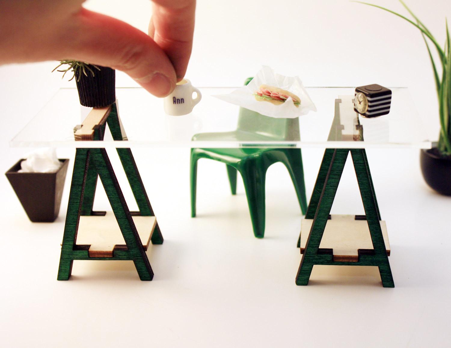 Miniature Inspired Vika Desk Kit Scale