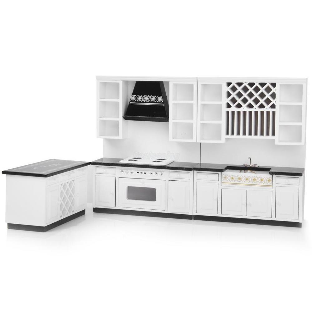 Miniature Modern Kitchen Delxue Cabinet Set Kit