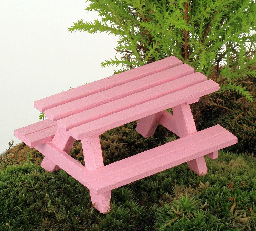 Miniature Picnic Table Fairy Garden