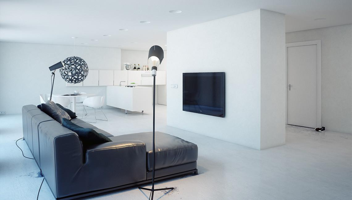 Minimalist Apartment Russia Modom Studio Wave