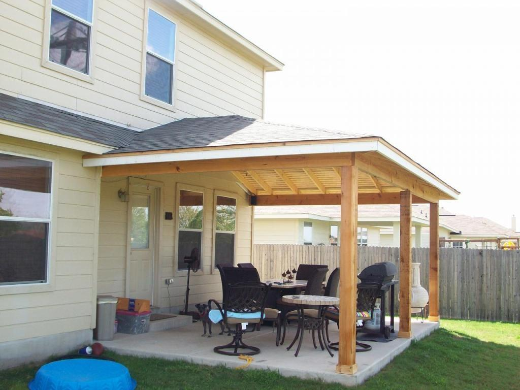 Minimalist Backyard Patio Style Attached Porch