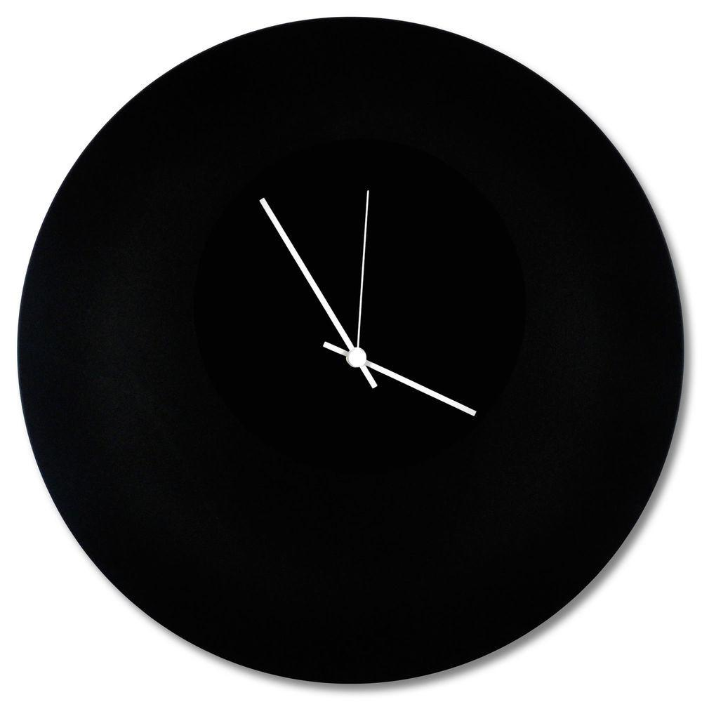 Minimalist Black Clock Blackout Circle