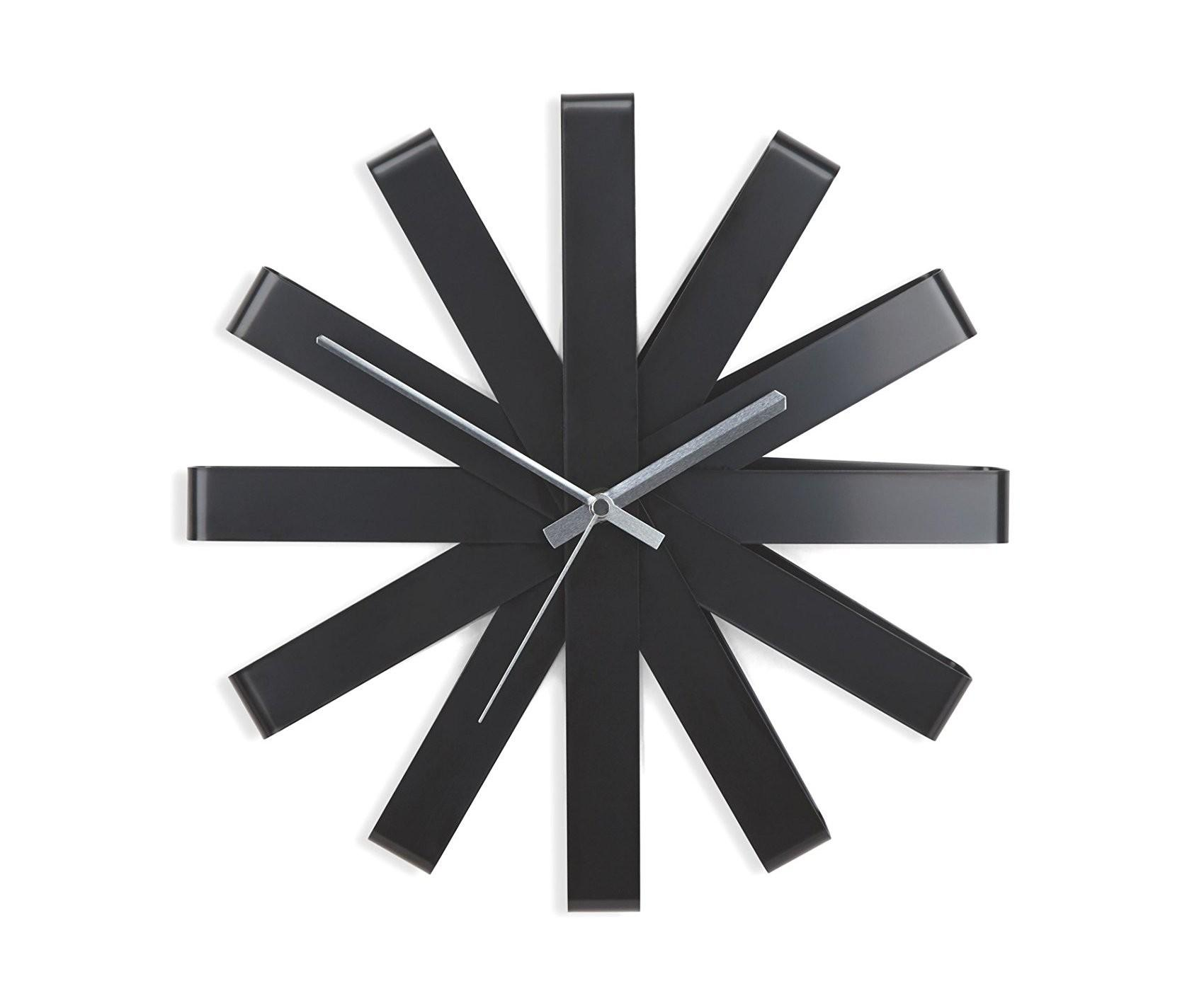 Minimalist Black Ribbon Wall Clock Umbra Mnml Living