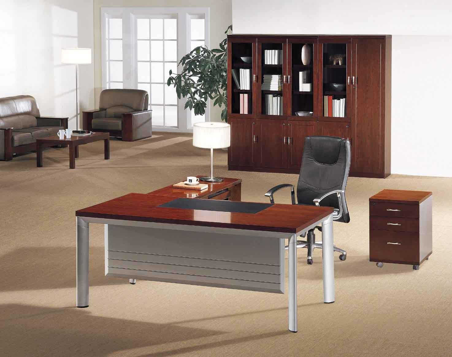 Minimalist Home Office Desk Wooden Top Affordable Modern