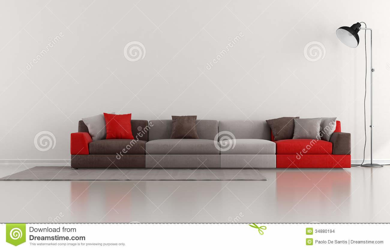 Minimalist Lounge Colorful Modern Stock Illustration