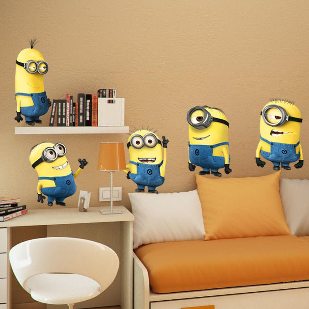 Minions Despicable Removable Wall Stickers Decal Home