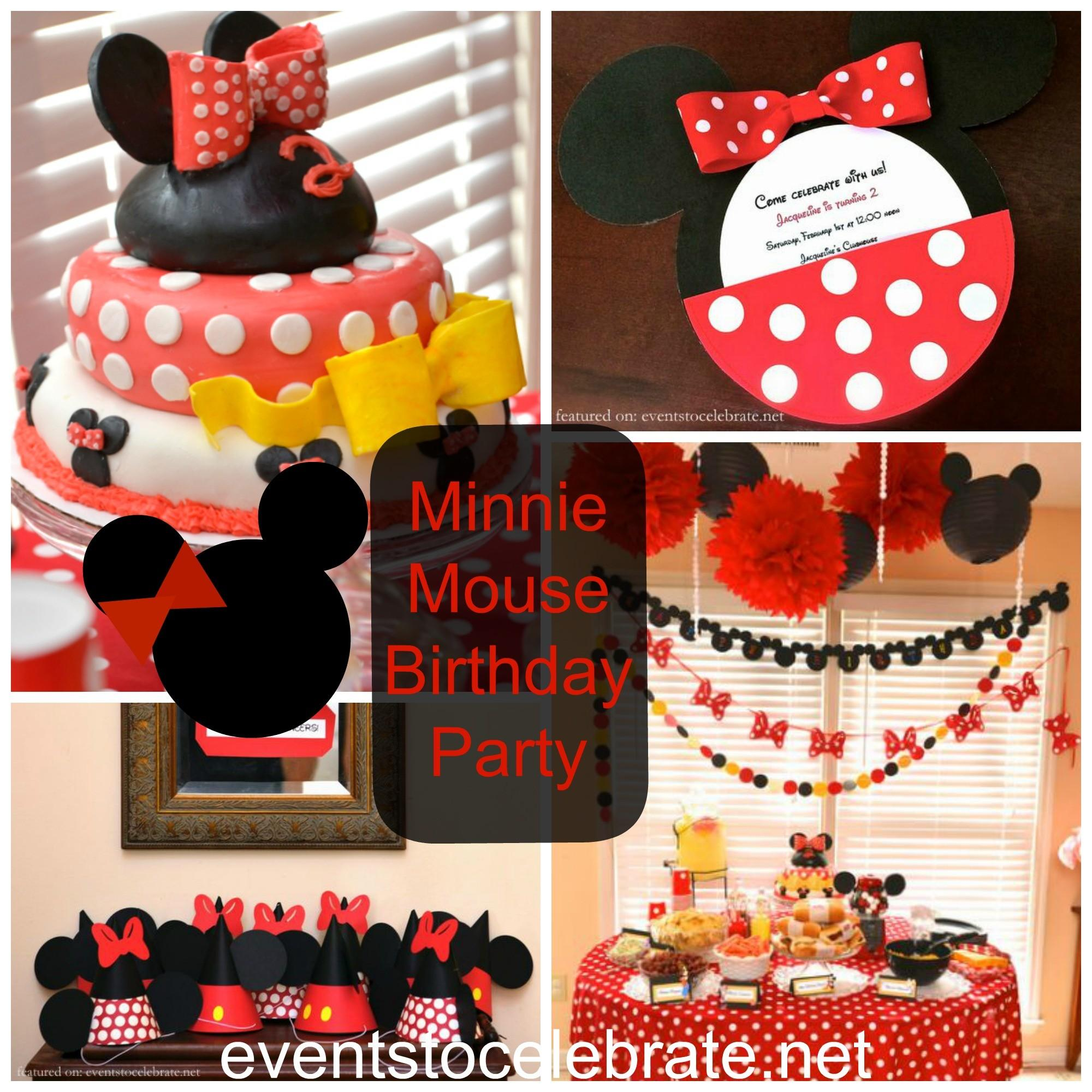 Minnie Mouse Birthday Party Eventstocelebrate