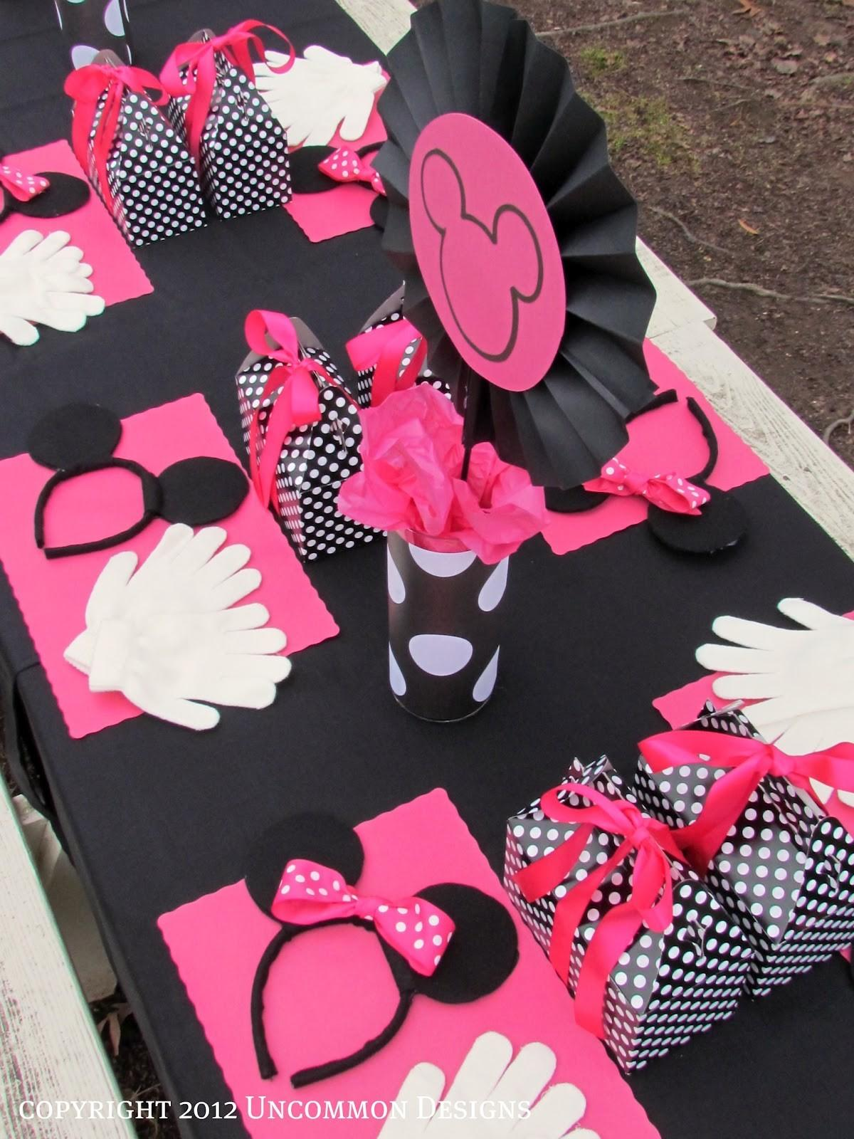 Minnie Mouse Birthday Party Uncommon Designs