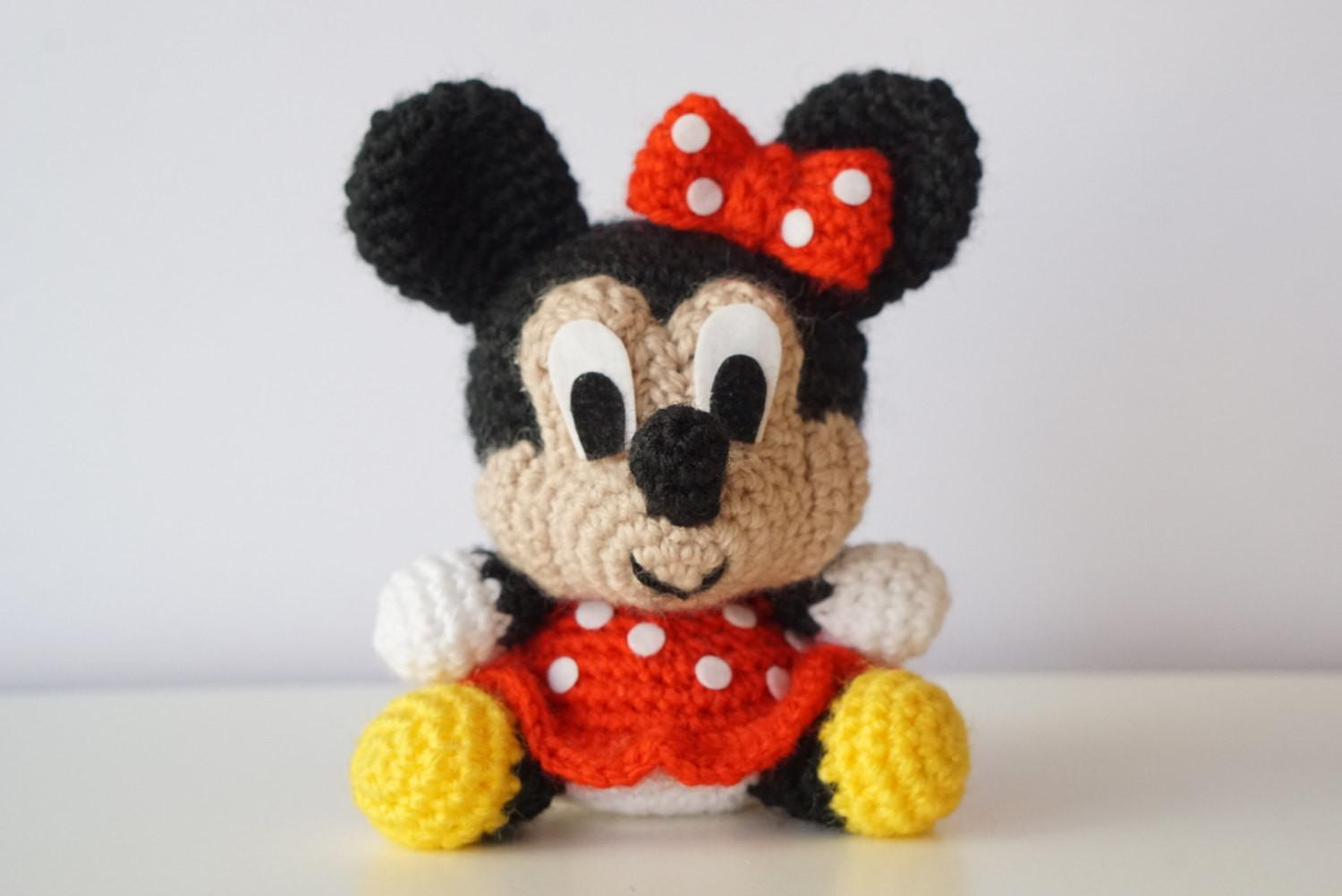Minnie Mouse Disney Amigurumi Pattern Baby Easy Diy Pdf