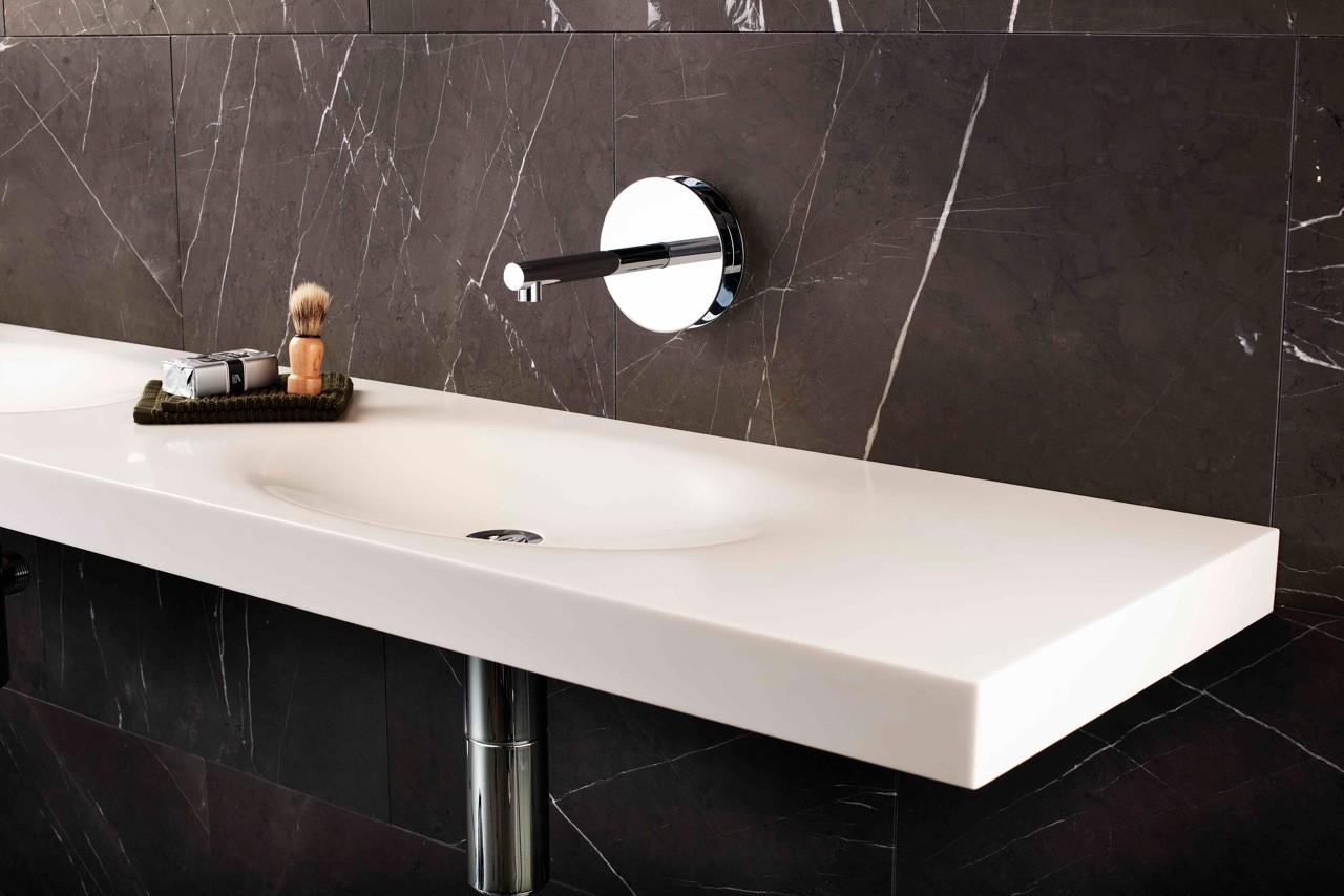 Minosa Scoop Washbasin Integrated Bathroom