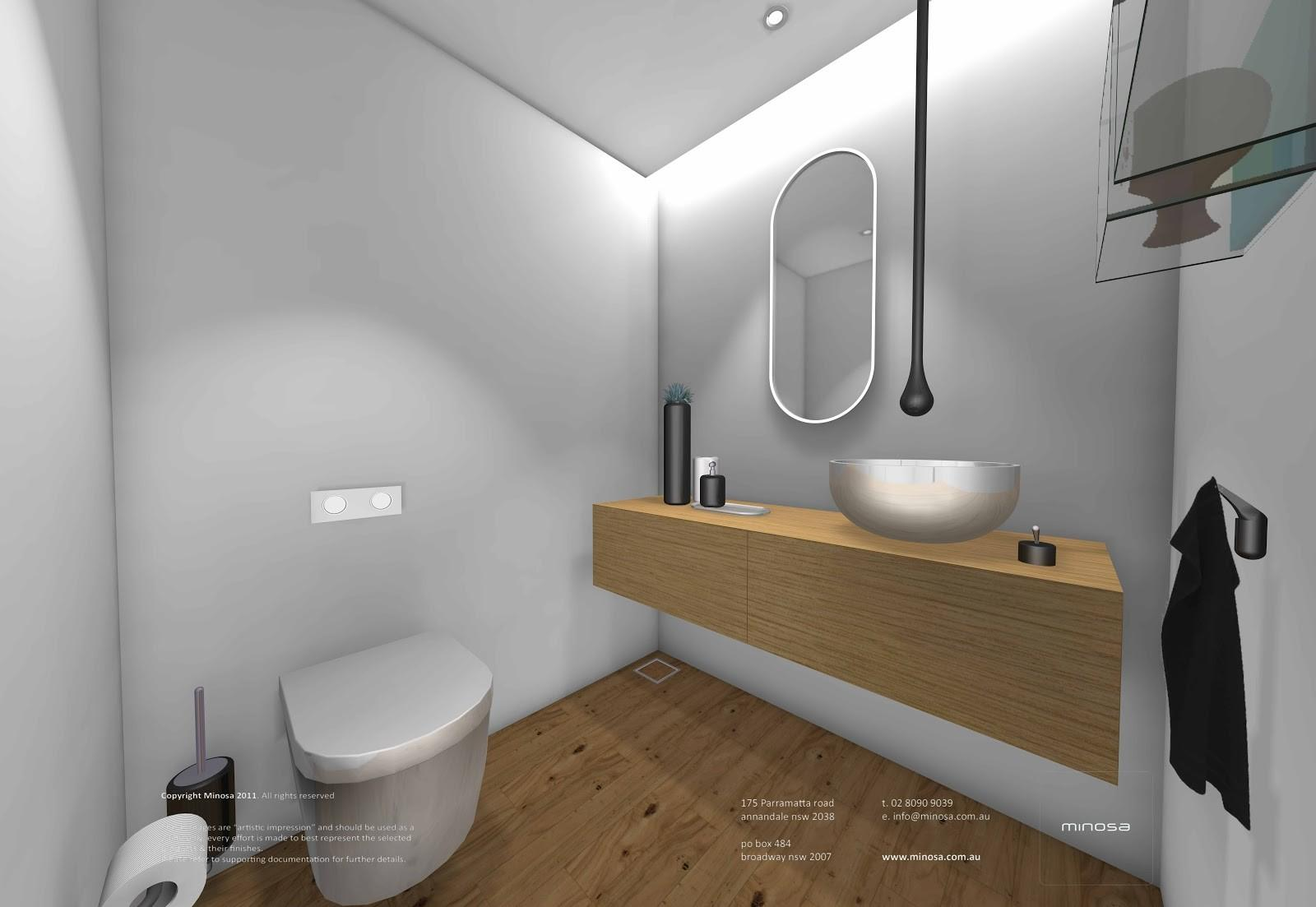 Minosa Sydney City Apartment Modern Bathroom Design