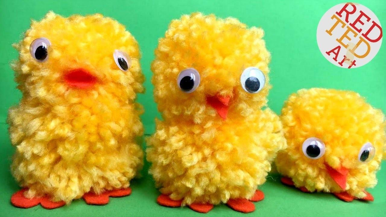 Mins Crafts Easy Pom Chicks Diy Make