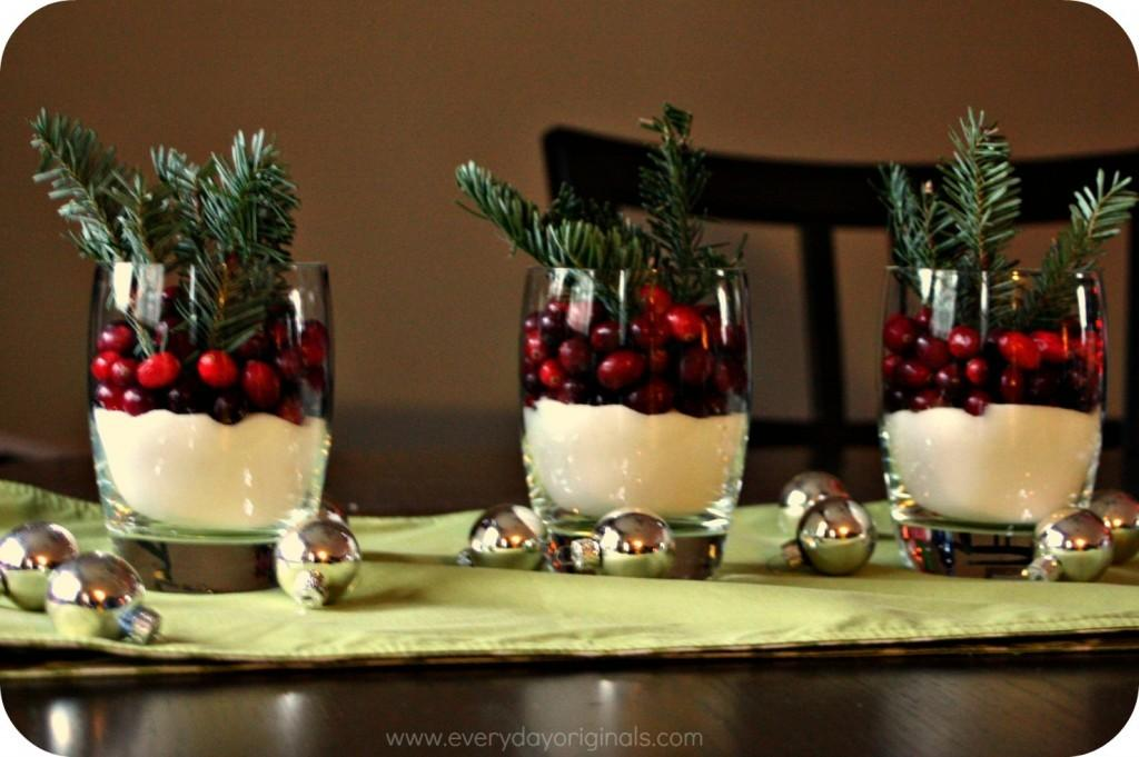 Minute Christmas Centerpiece