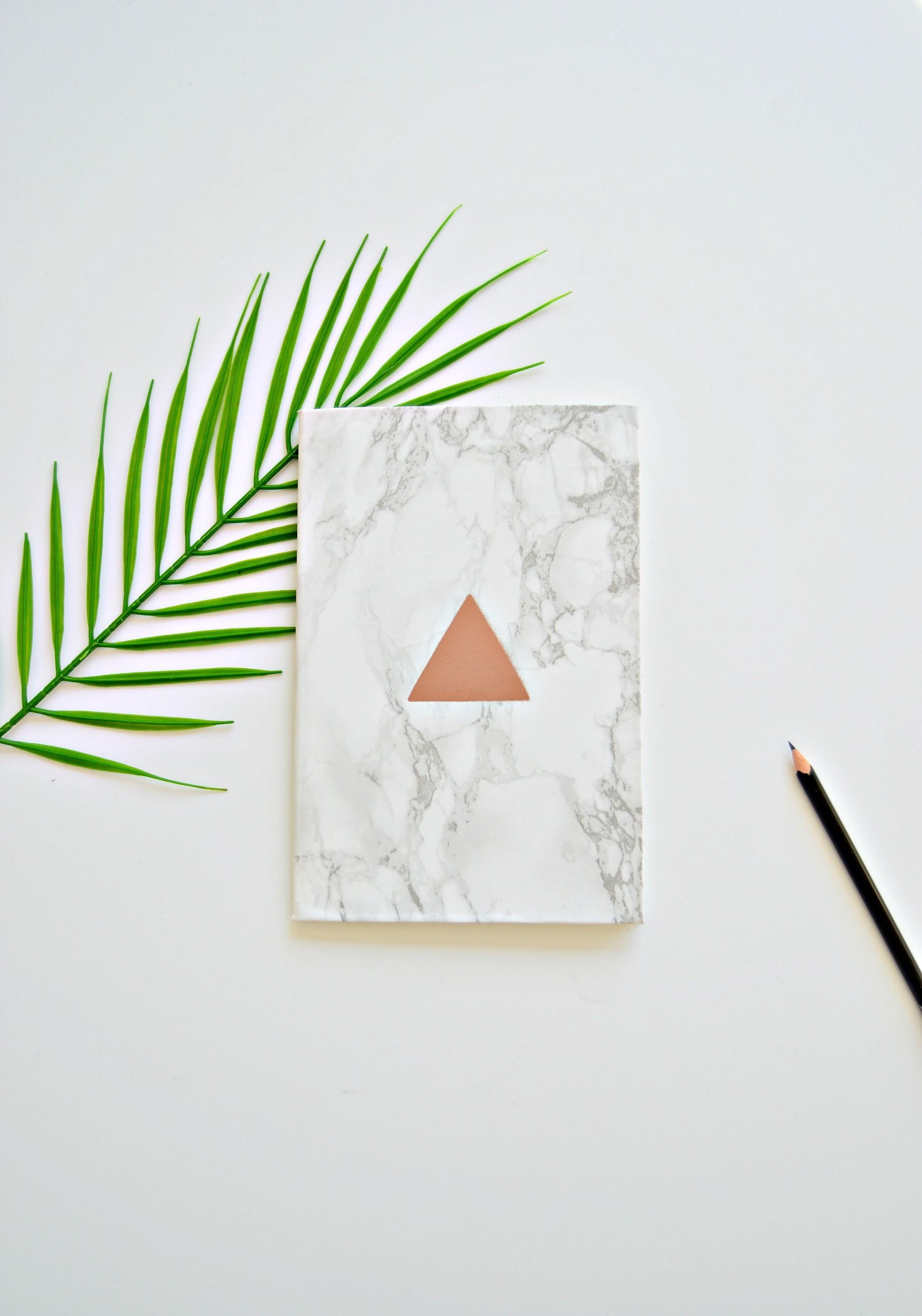 Minute Diy Graphic Copper Marble Notebook