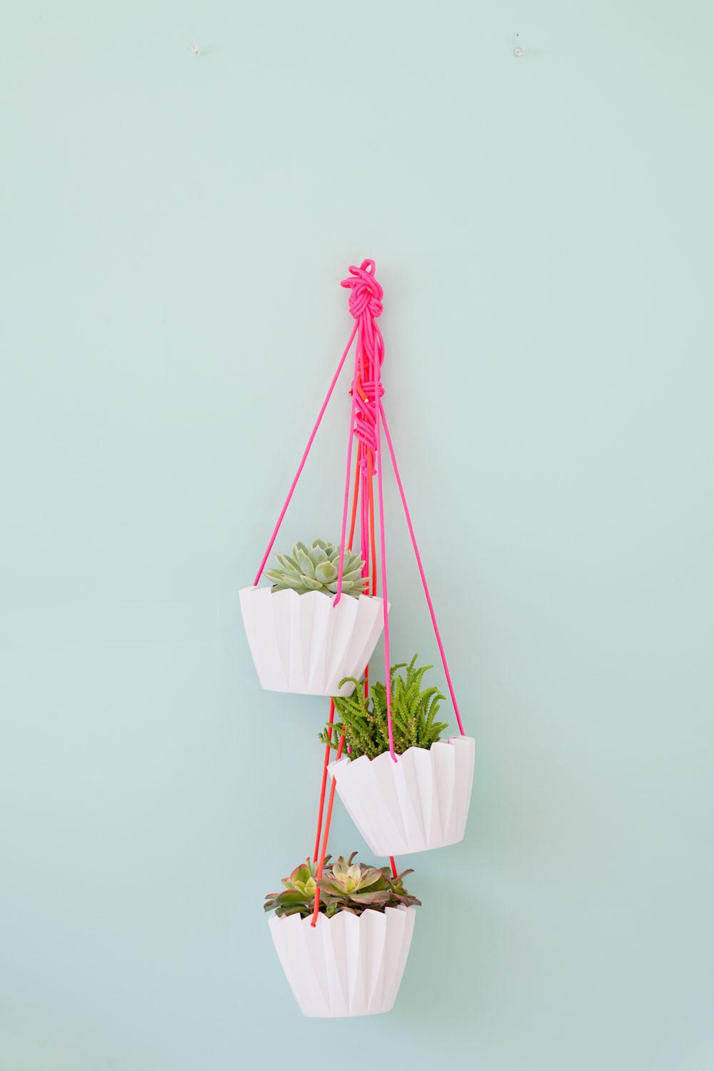 Minute Diy Hanging Planters Tell Love Party