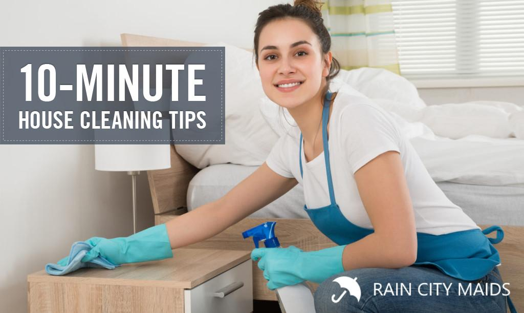 Minute House Cleaning Tips Rain City Maids 100