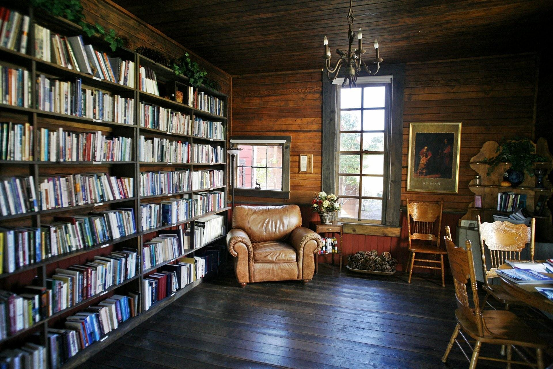 Miraculous Attic Vintage Style Library Decor Contains