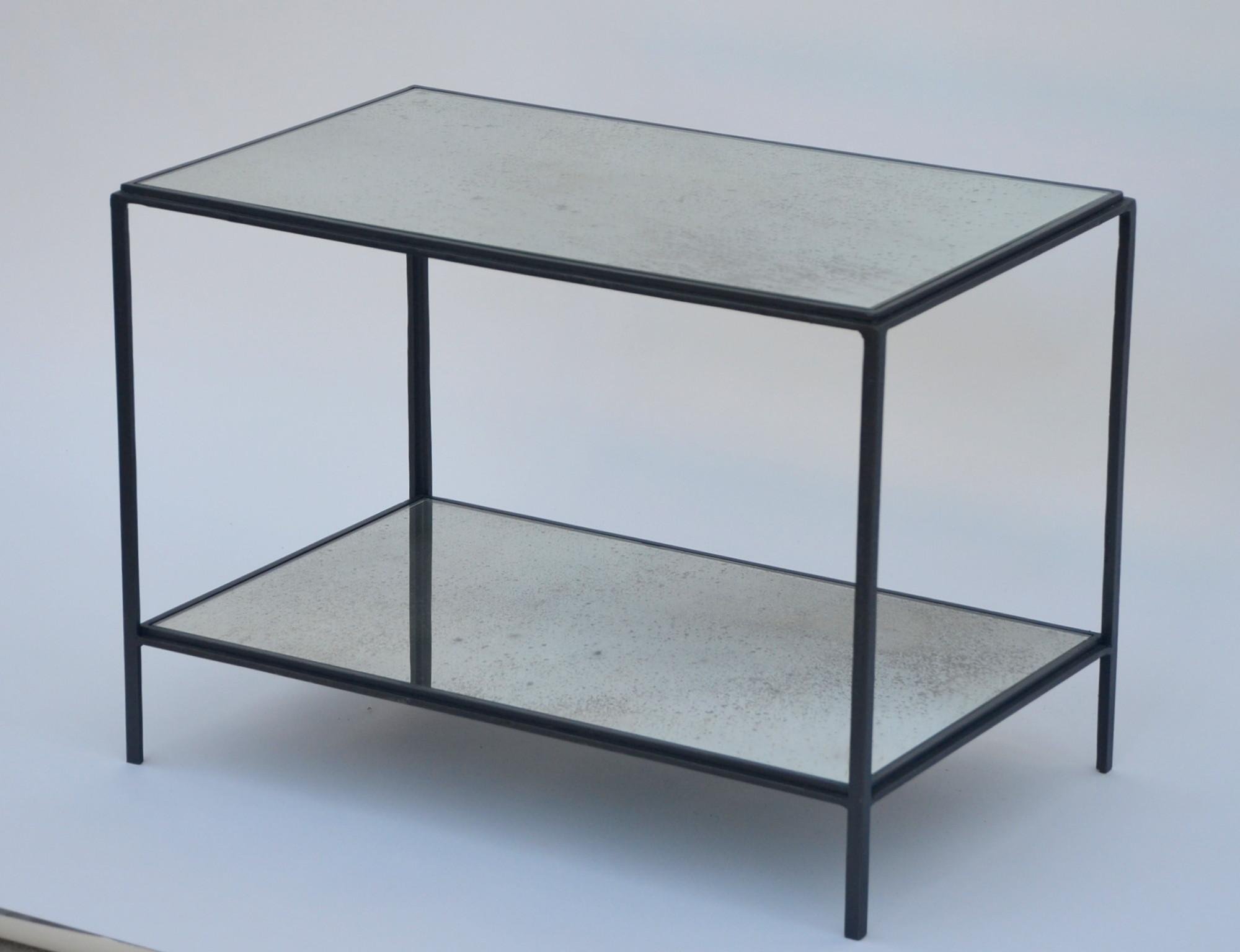 Mirror Glass End Tables Top