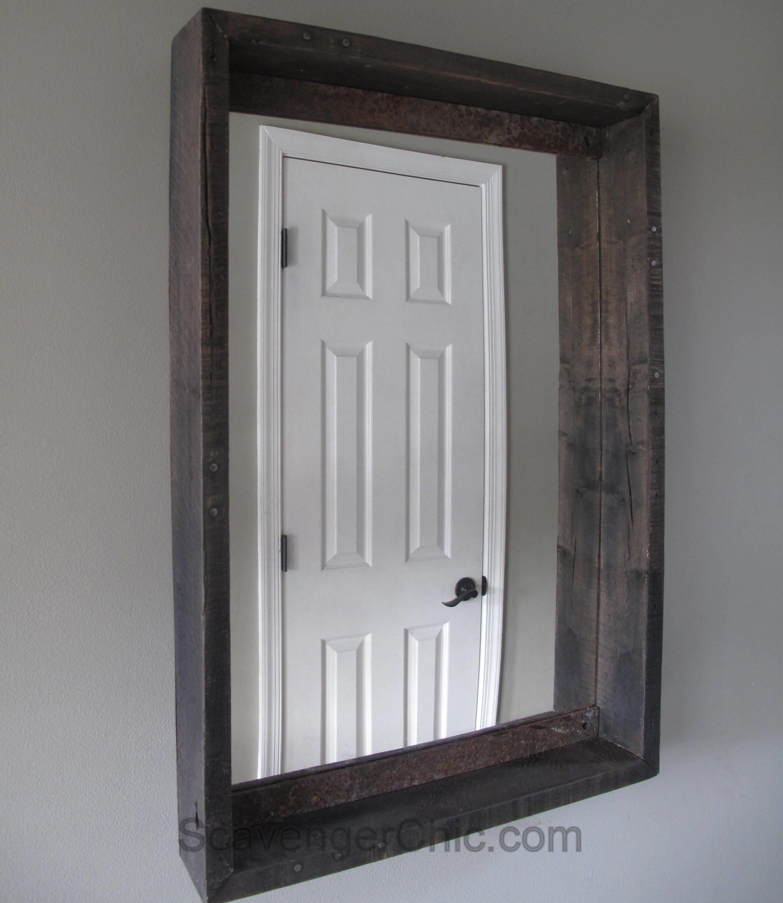 Mirror Makeover Pallets Scavenger Chic