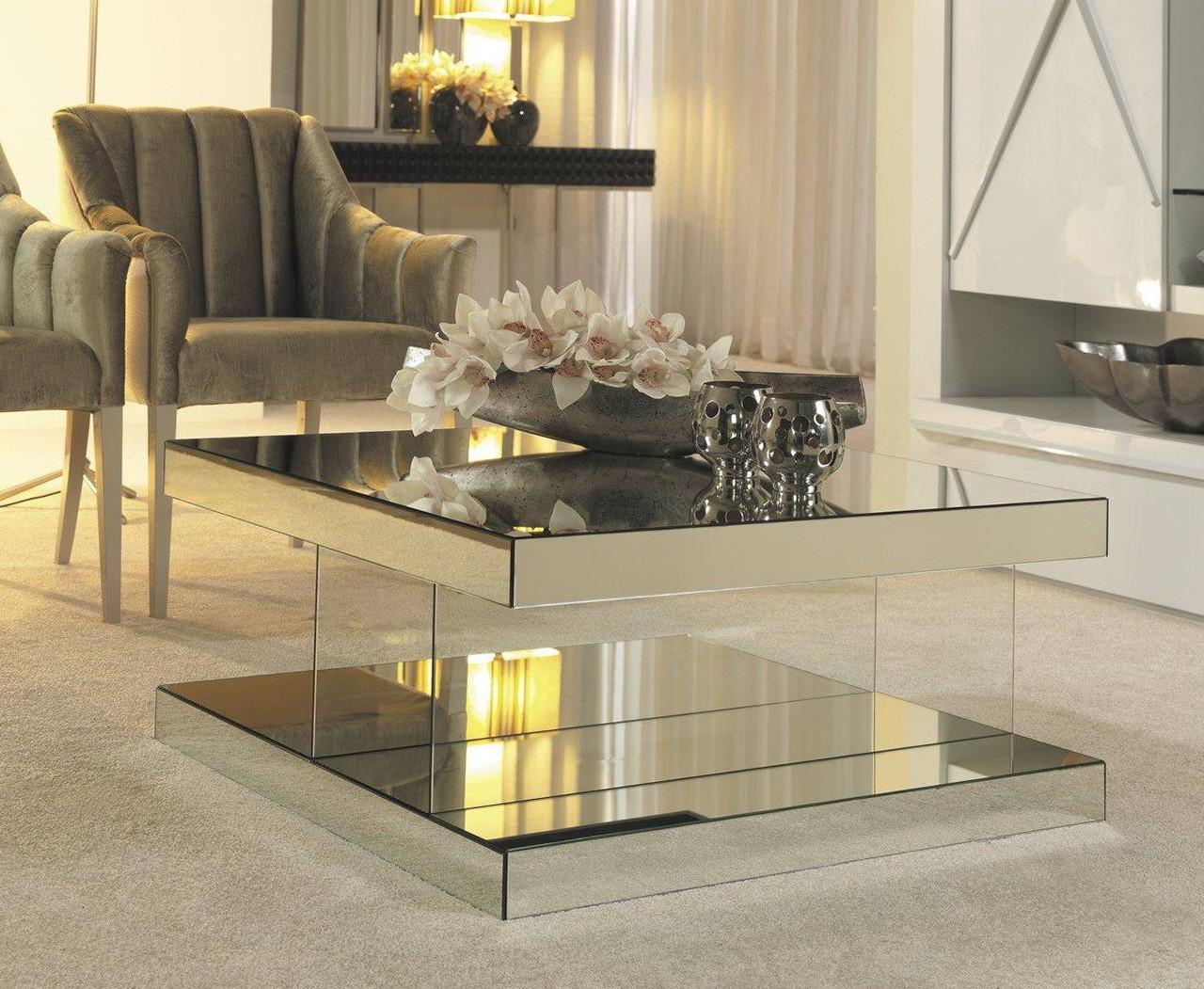Mirrored Coffee Table Design Photos
