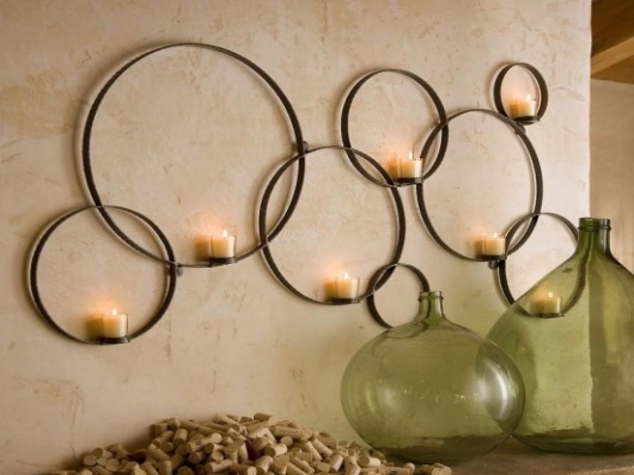 Mirrors Wall Decor Candle Holder Diy Wooden