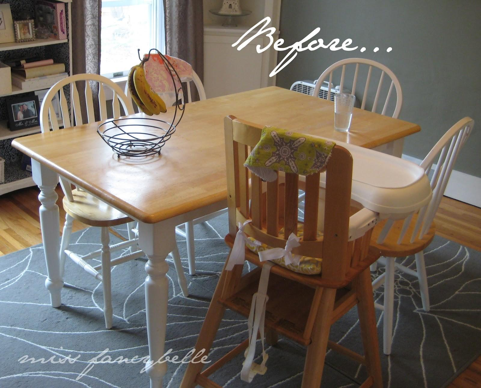 Miss Fancybelle Our Dining Table Makeover